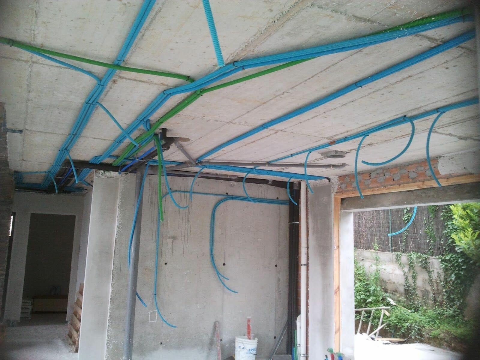 instalacion electrica de una vivienda. Tabiques