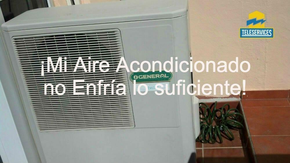 mi aire acondicionado no enfr a lo suficiente que hago