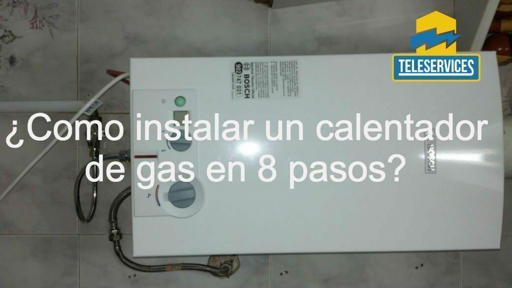 instalar un calentador de gas