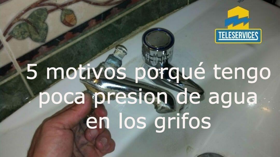 poca presion de agua