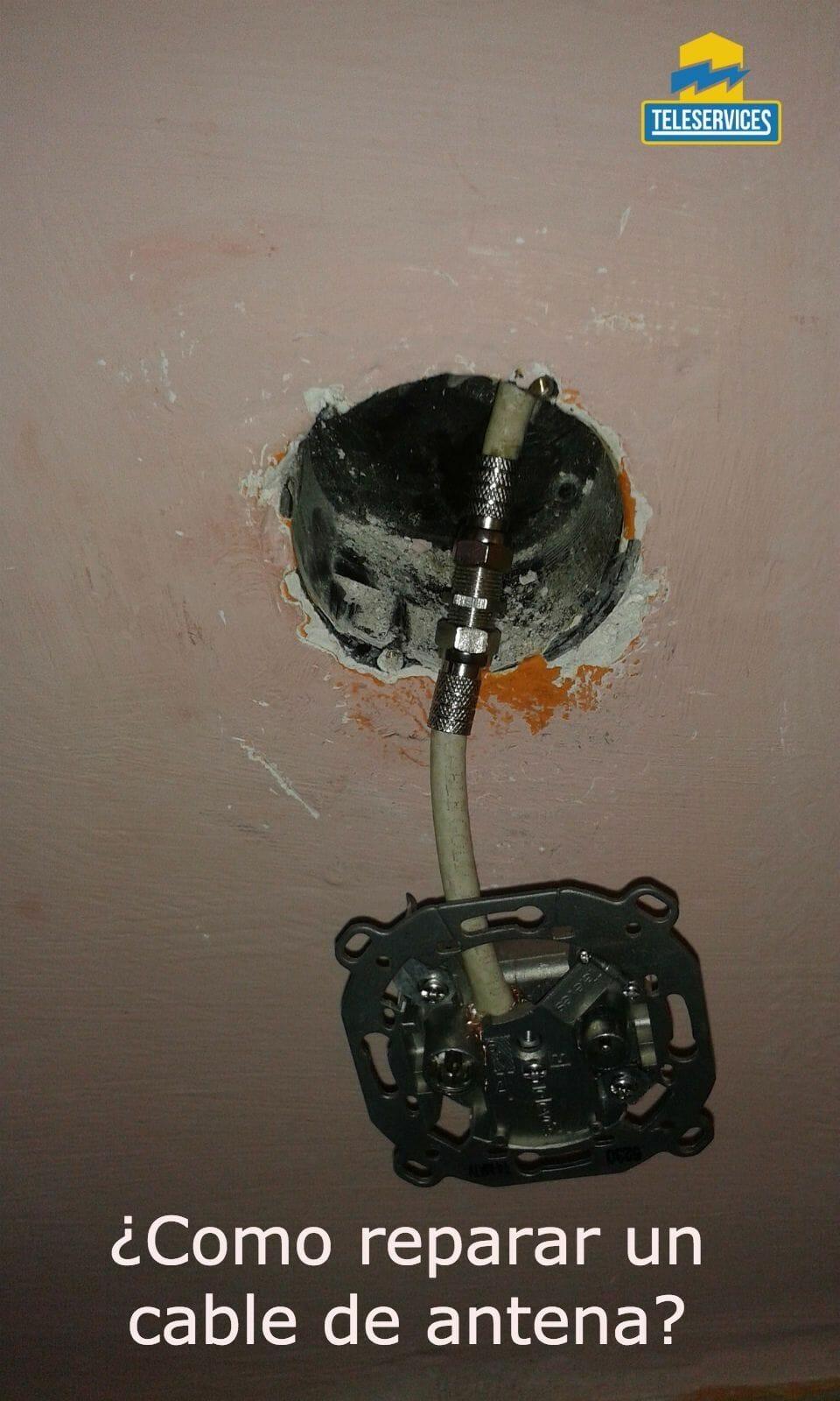 reparar un cable de antena tv