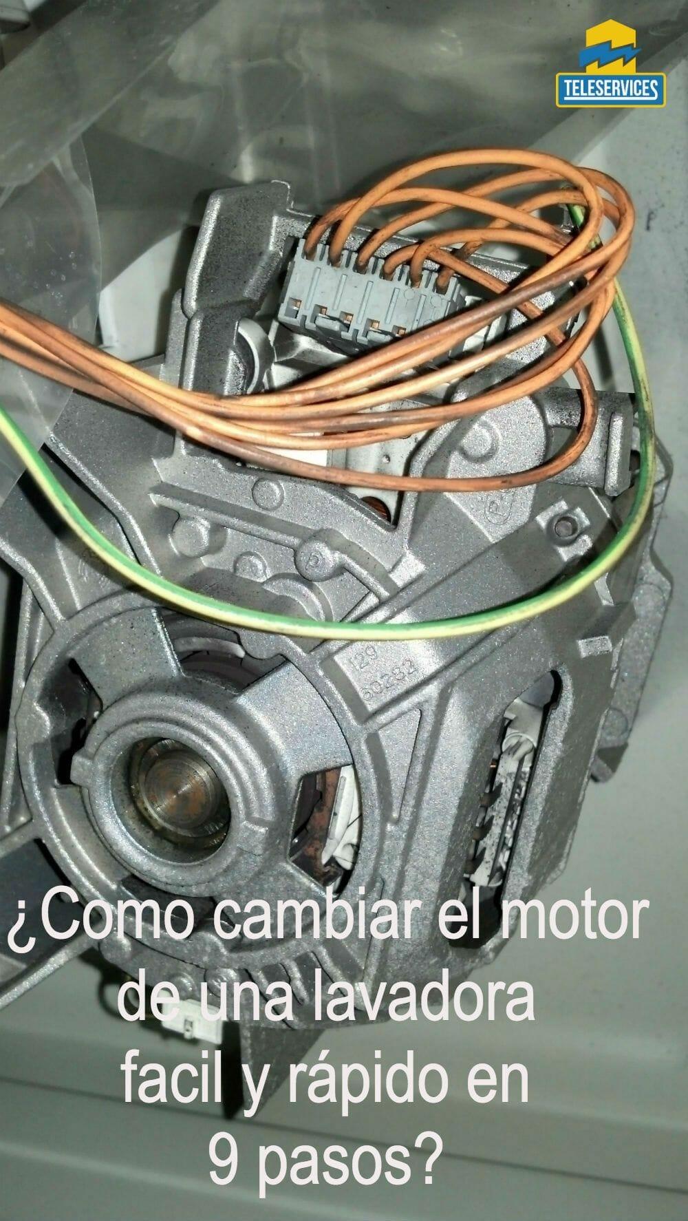 cambiar el motor de una lavadora