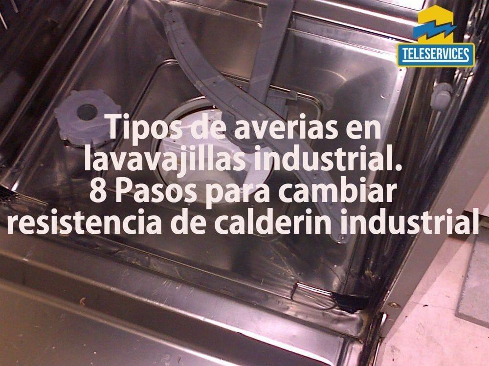averias en lavavajillas industrial