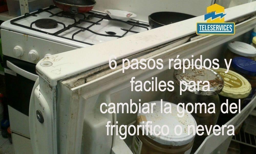goma del frigorifico o nevera