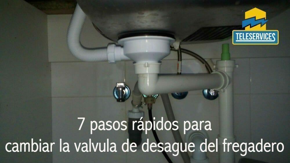 valvula de desague del fregadero