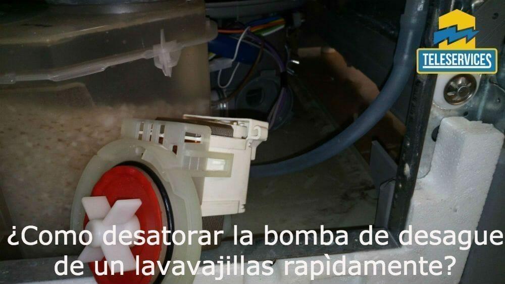 desatorar la bomba de desague de un lavavajillas