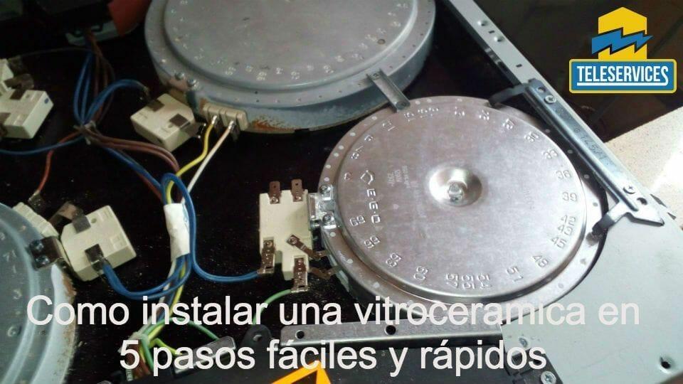 como instalar una vitroceramica