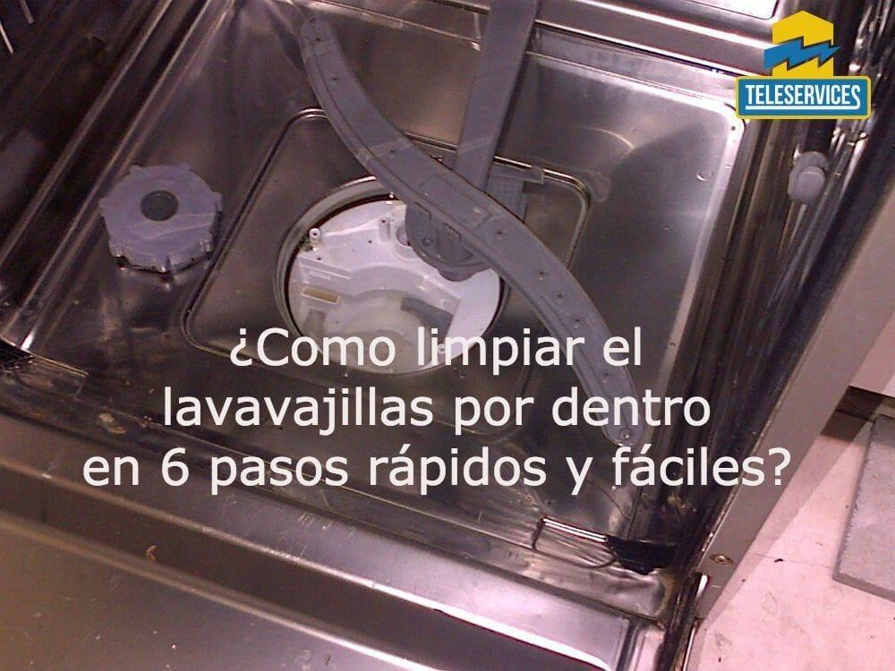 limpiar el lavavajillas