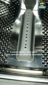 Como cambiar las palas del cesto de la lavadora rápidamente en 5 pasos fáciles