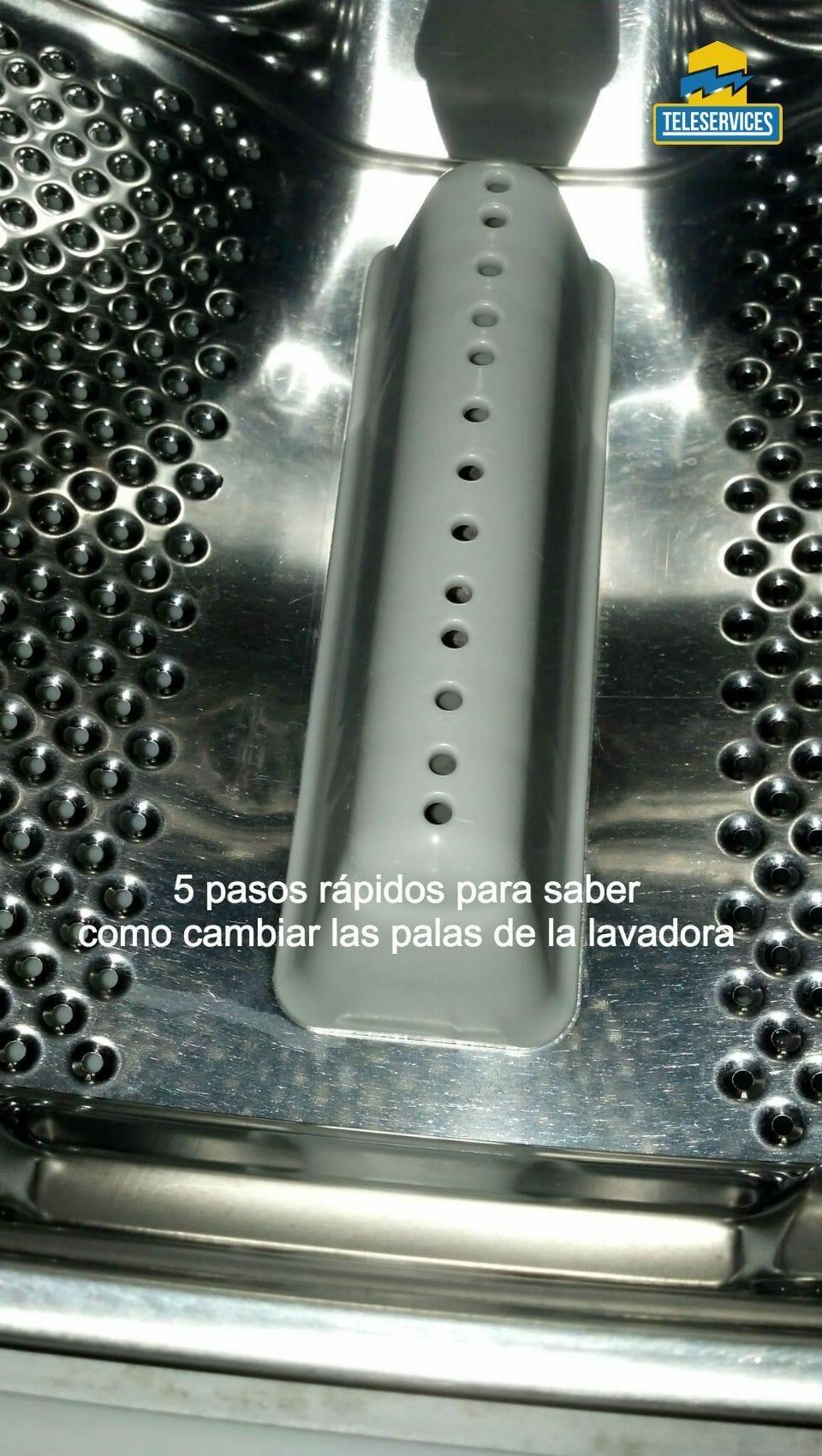 palas del cesto de la lavadora