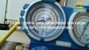 Como hacer una carga de gas rápida del aire acondicionado de tu casa o negocio