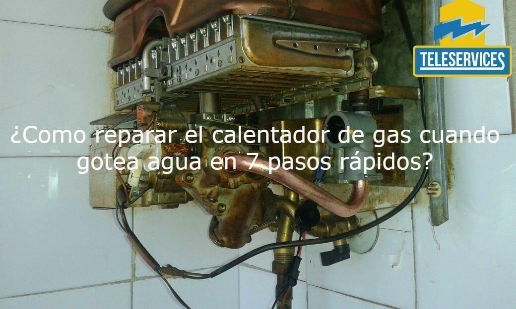 calentador de gas gotea agua