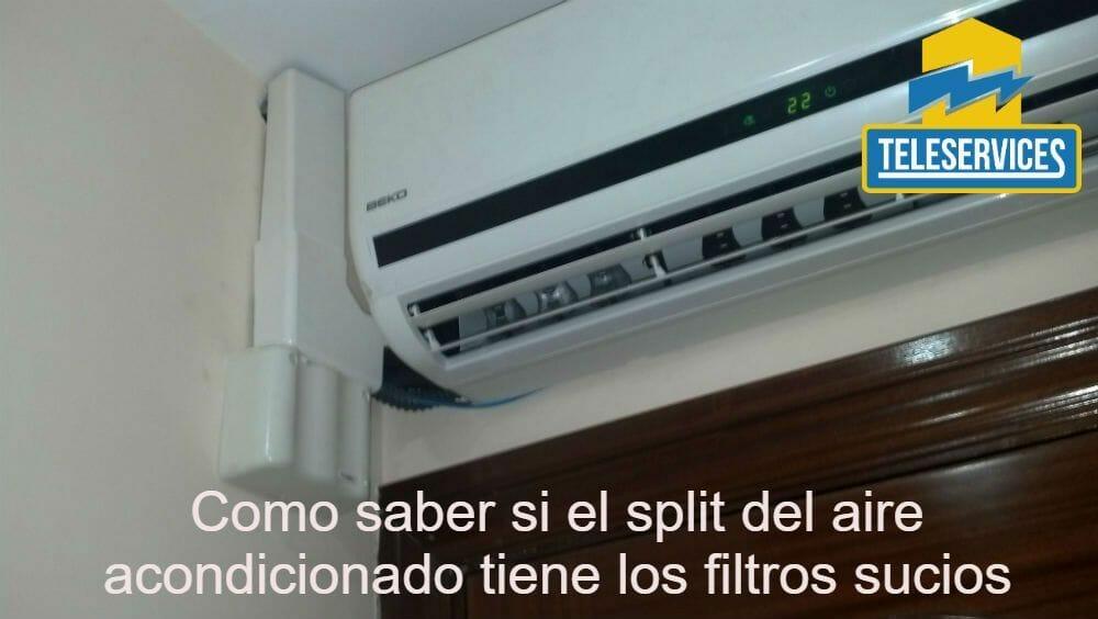 split del aire acondicionado tiene los filtros sucios