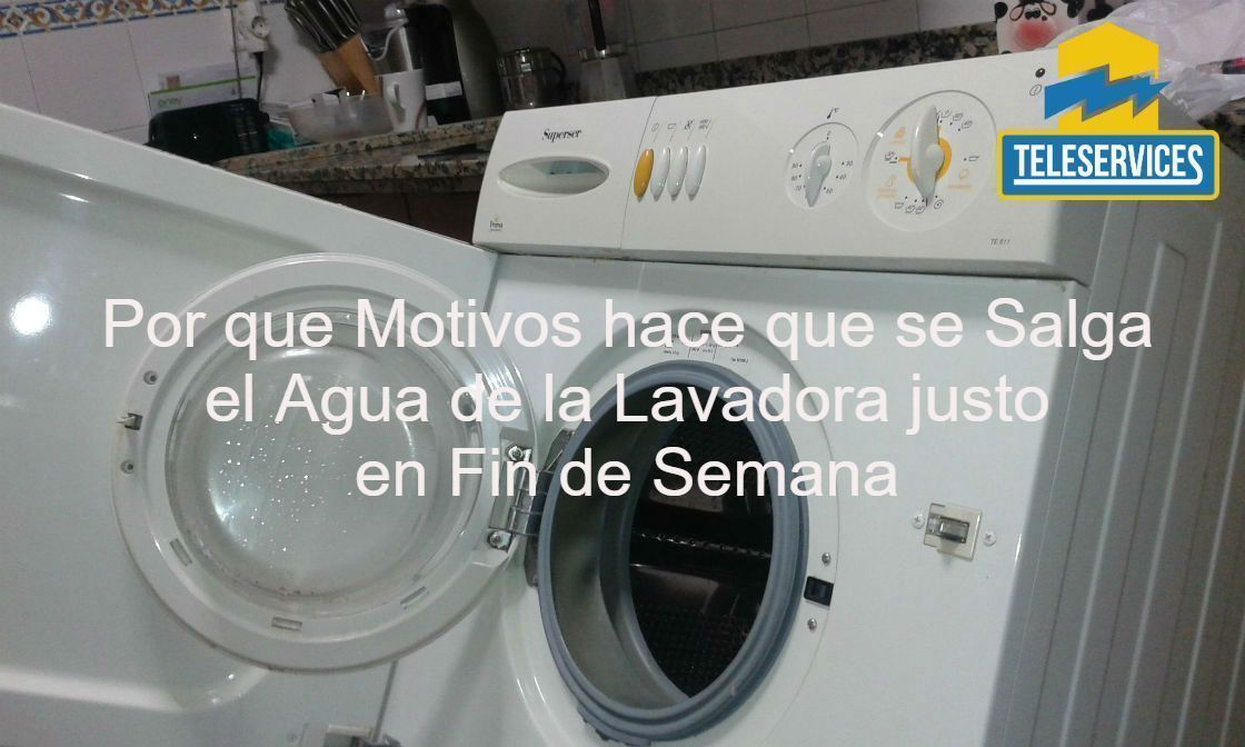 lavadora se sale el agua