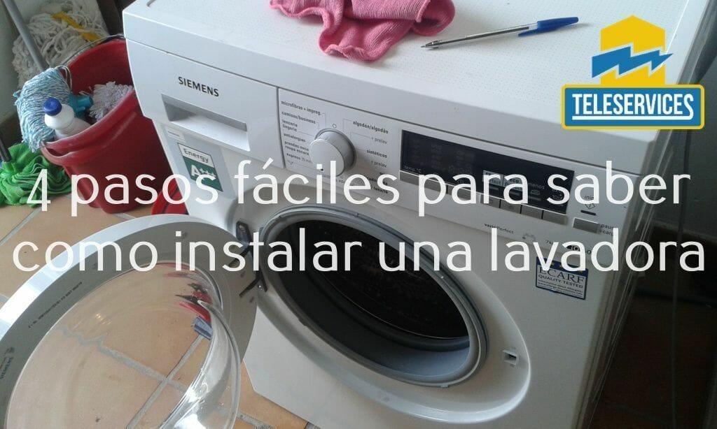 como instalar una lavadora