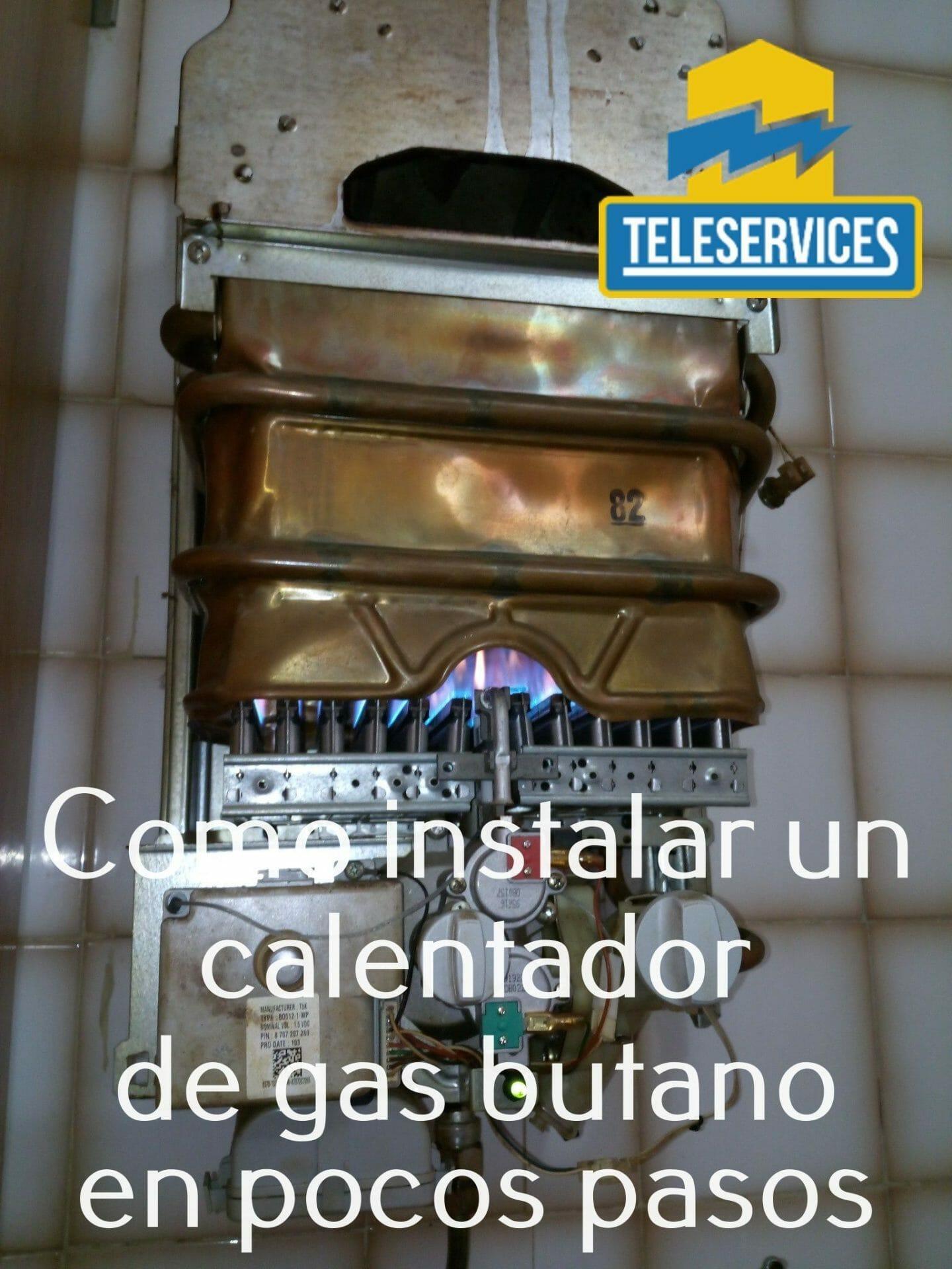instalar un calentador de gas butano