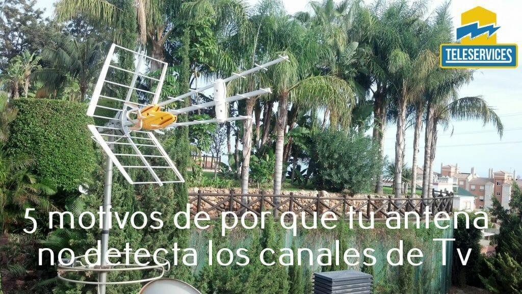 antena no detecta canales