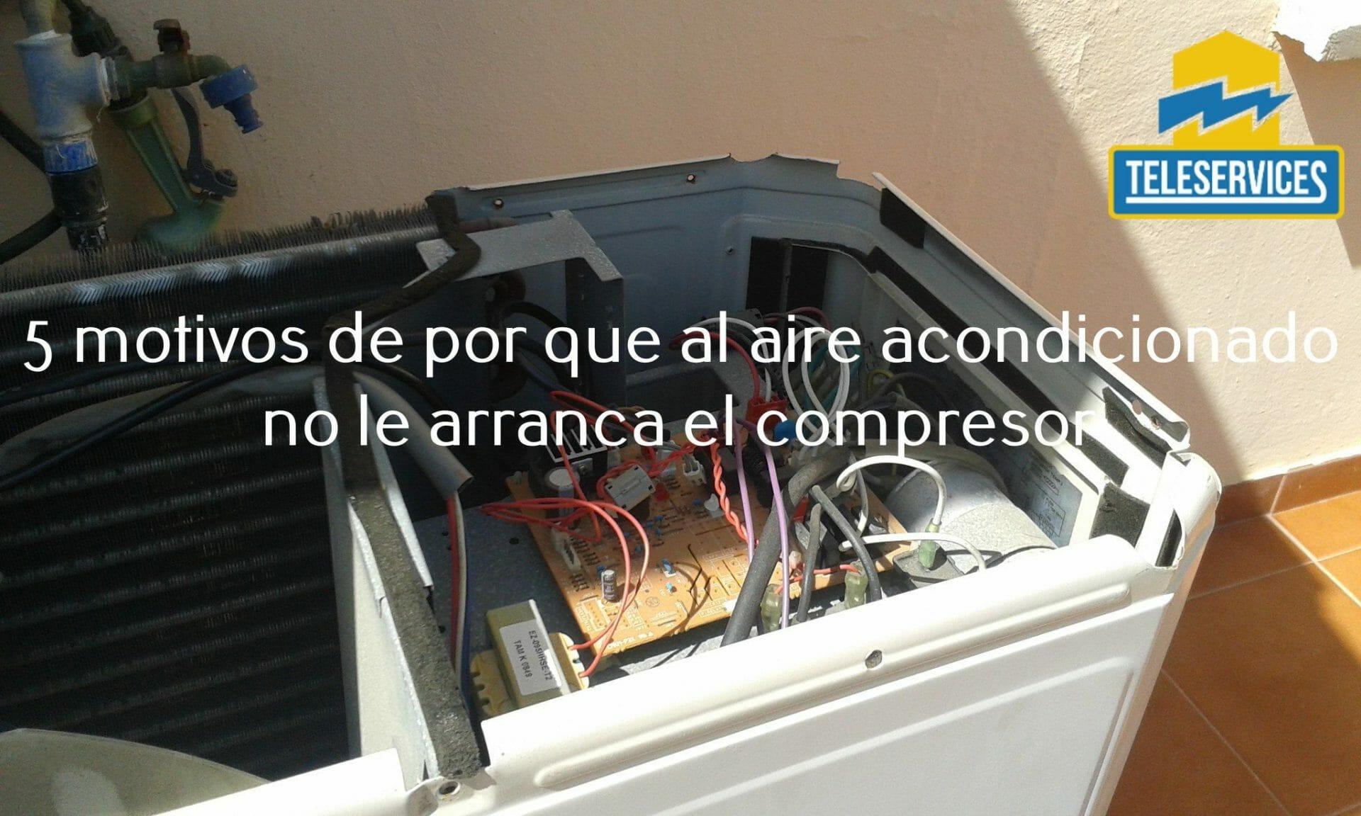 aire acondicionado no arranca el compresor